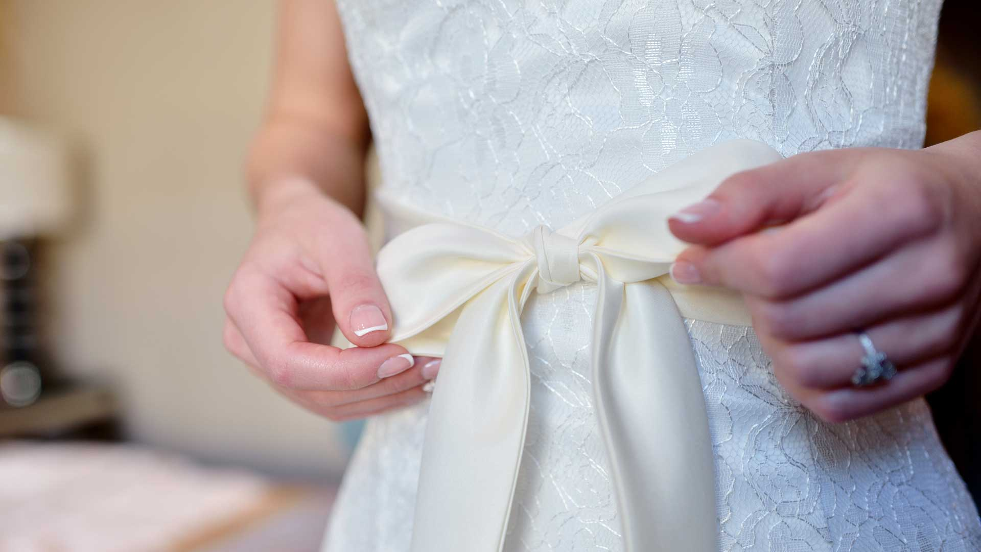 how to dry clean wedding dresses at home